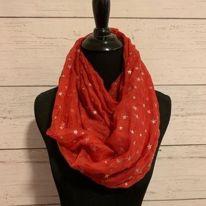 Accessories - Red star print infinity scarf